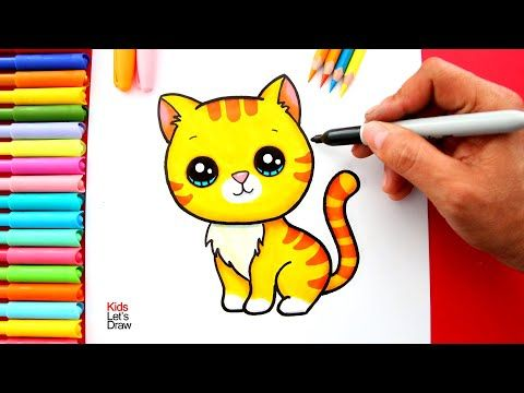 Aprende A Dibujar Un Gato Atigrado Estilo Kawaii De Manera Facil Youtube En 2020 Gatos Atigrados Estilo Kawaii Kawaii