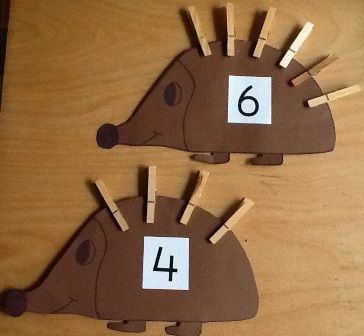 Fine motor or counting activity: