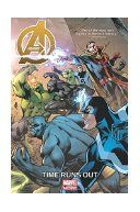 Avengers : time runs out / writer: Jonathan Hickman. In this run-up to the Secret Wars, Earth enters its last days and the truth is out regarding the Incursion crisis destroying the Multiverse--a revelation that has torn the Avengers apart. Reed Richards and the Illuminati faction are on the run, but some of their number--including Iron Man and Doctor Strange--are nowhere to be found. S.H.I.E.L.D.'s Avengers are in relentless pursuit, with Steve Rogers leading the charge.