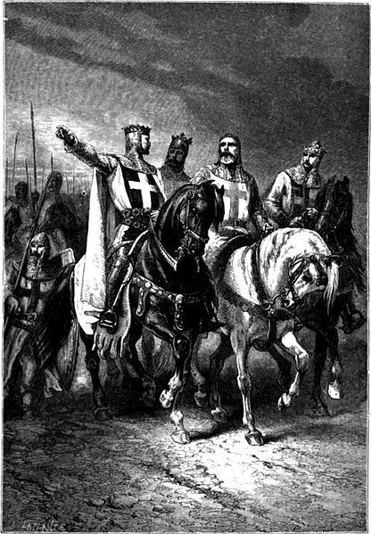 """Godfrey of Bouillon (c. 1060 – 18 July 1100) was a medieval Frankish knight who was one of the leaders of the First Crusade from 1096 until his death. He was the Lord of Bouillon, from which he took his byname, from 1076 and the Duke of Lower Lorraine from 1087. After the successful siege of Jerusalem in 1099, Godfrey became the first ruler of the Kingdom of Jerusalem, although he refused the title """"king"""" as he said that title (i.e., """"King of Jerusalem"""") belonged to God."""