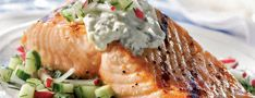 Grilled Salmon and Cucumber Radish Relish   Eat a little, drink a ...