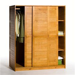 Armoire penderie ling re pin massif soninke la redoute for Armoire dressing en solde