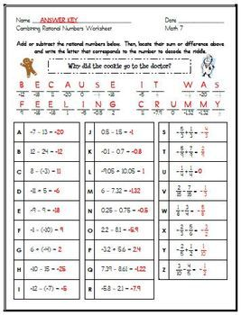 Printables Math Worksheets With Answer Key a well math and keys on pinterest 7th grade math