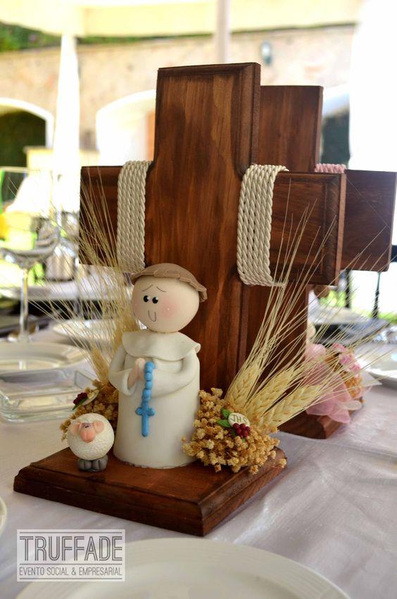 Primera comuni n centros de mesa baby shower bautizos - Centros de mesa comunion ...
