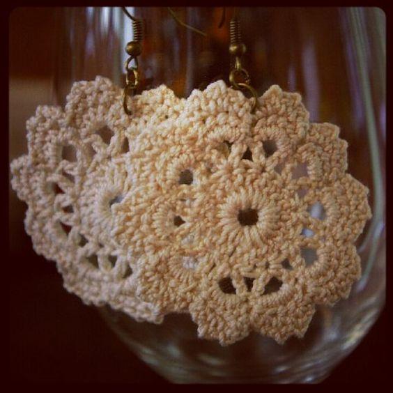 Crochet earrings ~Doily Designs