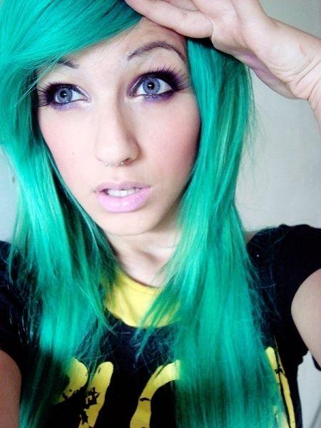 hair, hair color, teal, teal hair