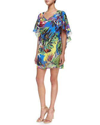 Bella Floral-Print Dress by Milly at Neiman Marcus.