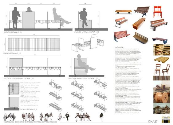 Concurso concurso de mobiliario urbano del ii foro da for Mobiliario urbano contemporaneo