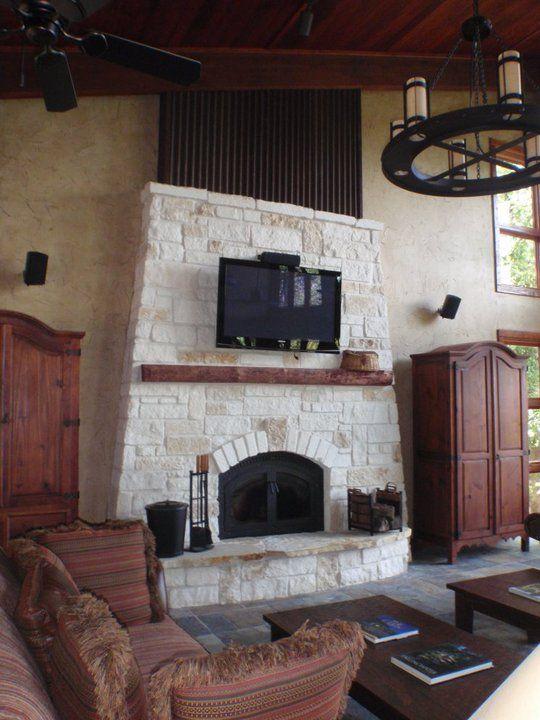 Pinterest the world s catalog of ideas for Austin stone fireplace
