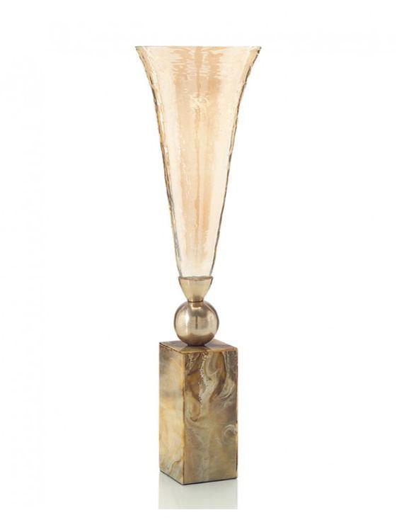 John Richard Fluted Luster Glass Vase