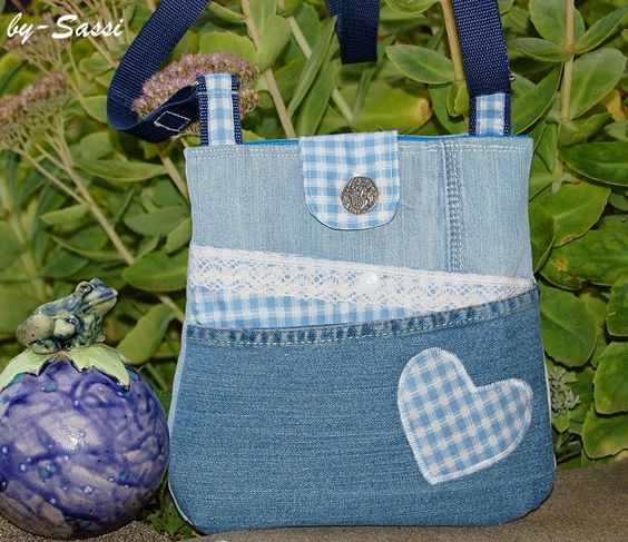 Handmade by-Sassi: Zicky Zacky Bag in Tracht/Jeans
