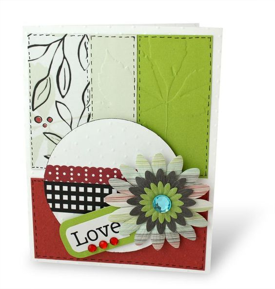 Neat card, shows off the jewel embellishments from the new Enchanted Power Palette! #scrapbooking