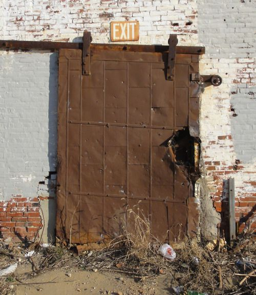 Quickie: Industrial metal door. Fairhill, North Philly