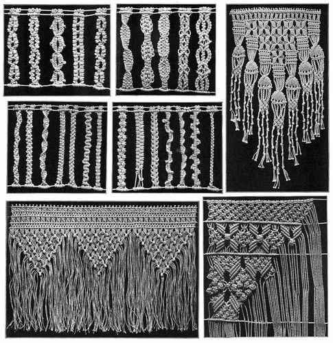 Macrame Book Patterns Designs Instruction Titanic 1913 | eBay