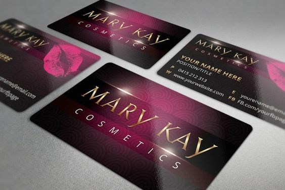 MARY KAY BUSINESS CARD TEMPLATE GOLD