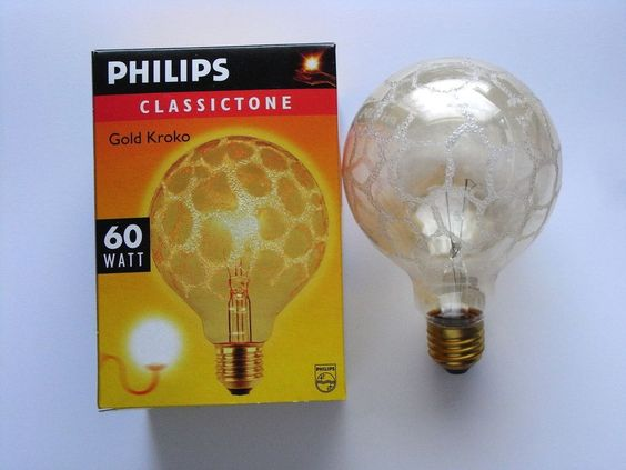 philips globe g95 kroko gold 60w 60 watt gl hbirne. Black Bedroom Furniture Sets. Home Design Ideas