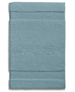 """Martha Stewart Collection Spa 17"""" x 25.5"""" Cotton Bath Rug, Only at Macy's - Blue"""