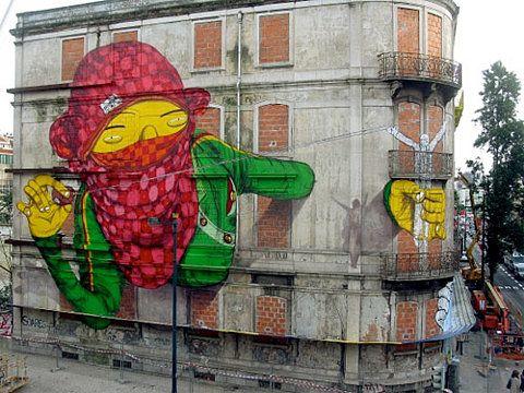 Os Gemeos + Blu - Lisboa