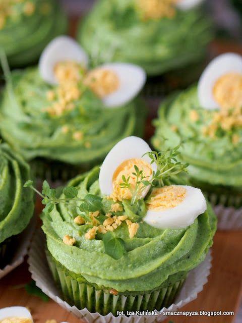 Smaczna Pyza Zielone Babeczki Z Zielonym Kremem Appetizer Recipes Appetisers Food