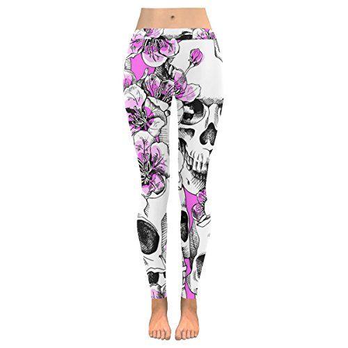 Custom Leggings Women High Waist Soft Yoga Workout Stretch Printed Happy Halloween Cool Skeleton Stretchy Capris Pants