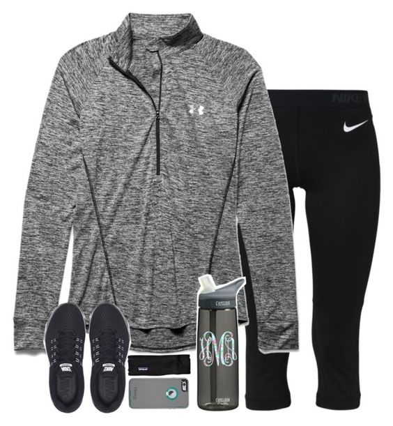 """""""if i was a runner"""" by sarahc-01 ❤ liked on Polyvore featuring NIKE, Under Armour, Patagonia, women's clothing, women, female, woman, misses and juniors"""