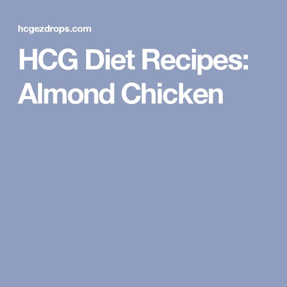 HCG Diet Recipes: Almond Chicken