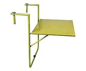 Table de balcon métal, vert clair - 60*75