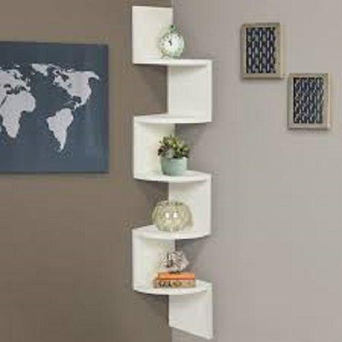 Buy Wood World Home Decor Wall Shelf Zigzag Corner Wall Mount