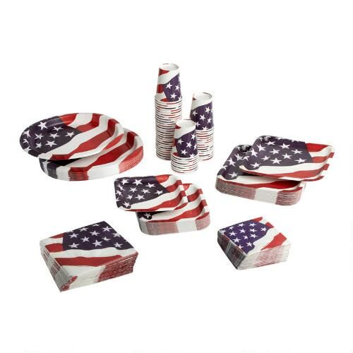 One Of My Favorite Discoveries At Christmastreeshops Com American Flag Paper Goods Set Christmas Tree Shop Tree Shop Paper Goods