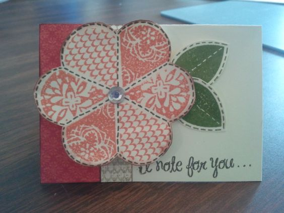 This is a note card I made with the close to my heart stella workshop. We will be making this at the workshop im giving.