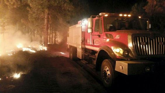 The heavy on a wildland fire