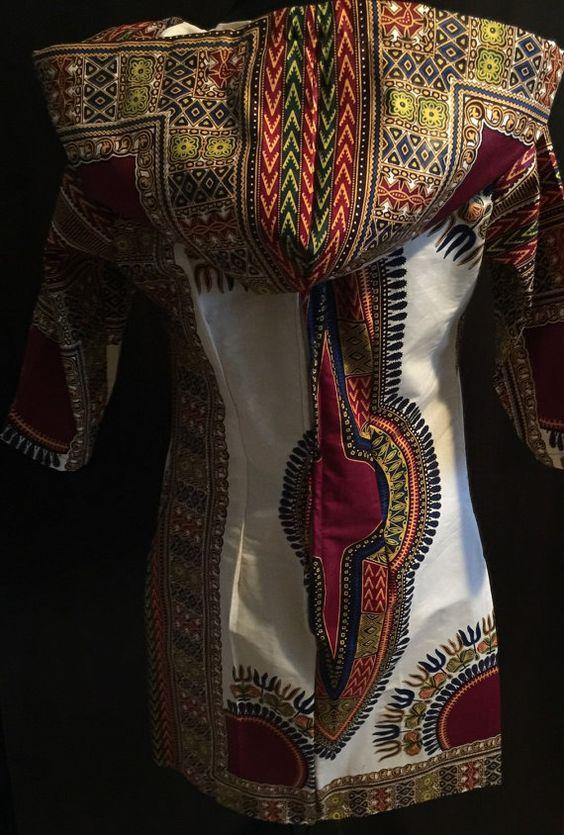 Afrikaanse jurk Afrikaanse dashiki jurk Afrikaanse door BurgundybyPK