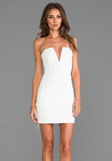 Rubix V-Front Bustier Dress - Jumpers- Engagement and Bachelorette ...
