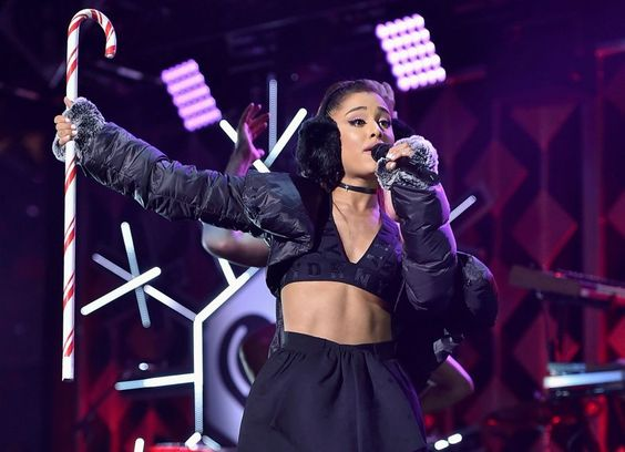 Ariana Grande performs during Z100s Jingle Ball 2016 at Madison