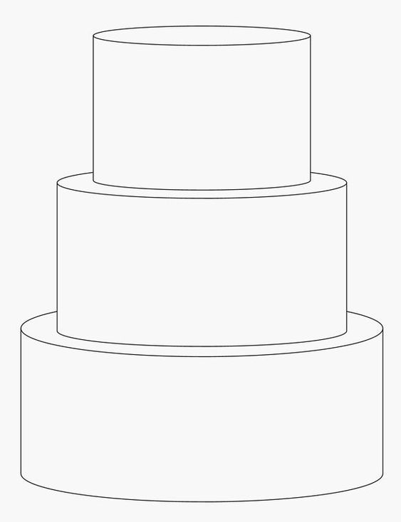 free blank cake template - Google Search Gateau ...
