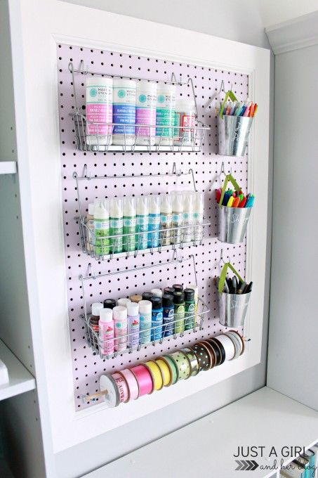 Home Office Reveal + crafting paint storage