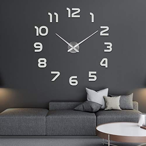 Soledi Precise Diy Silent Wall Clock 60 120cm Easy To Assemble 3d Effect Fill Empty Modern Wall Adhesive Clock Wall D In 2020 Diy Clock Wall Wall Clock Clock
