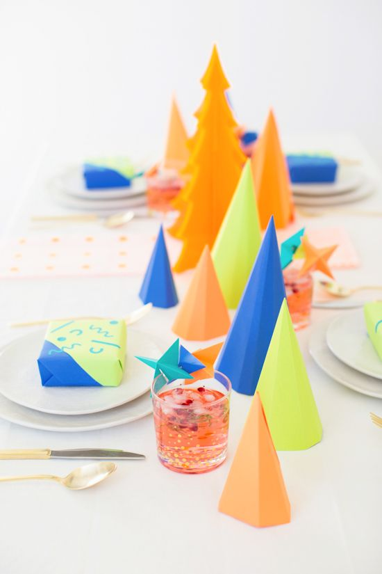 A Colorful (DIY) Christmas Party - Paper and StitchPaper and Stitch: