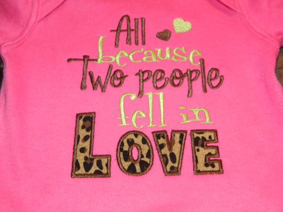 All Because Two People Fell in Love Onesie with FREE SHIPPING. $17.00, via Etsy.