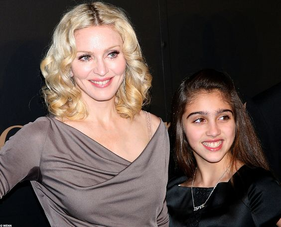 Madonna And Her Daughter | From shiner to shimmer: Madonna has skin like her daughter as she ...