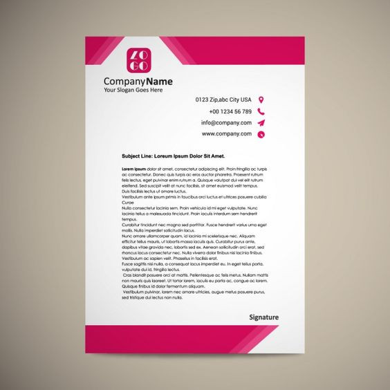 Image result for letterhead template 2018 Brand Identity Ideas - letterhead template