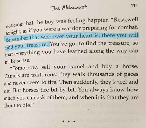 Quote from The Alchemist (P. Coelho)