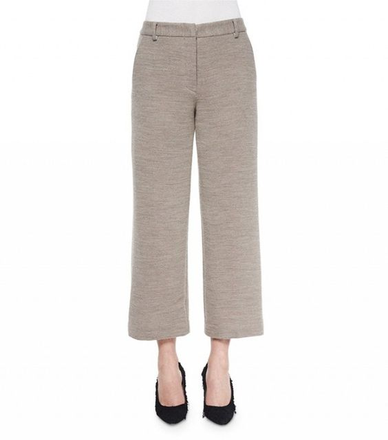 Helmut Lang Cropped Wide-Leg Dress Pants