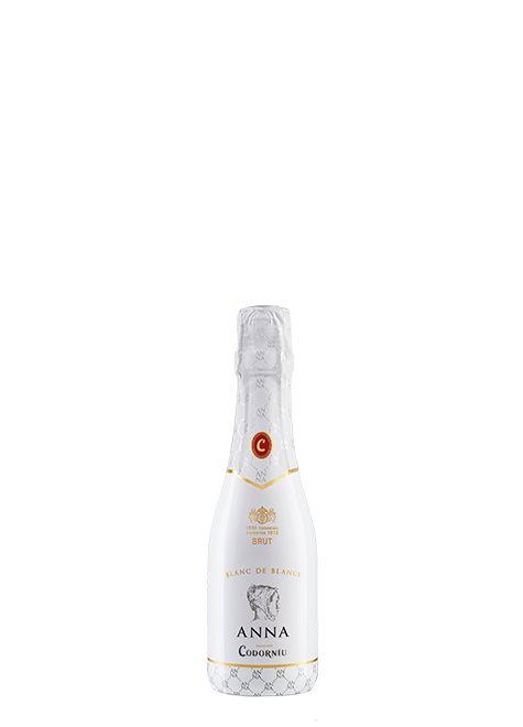 Cava Anna Blanc de Blancs mini. Chardonnay, parellada, xarel·lo, macabeo. Codorníu. Amigos de las bodegas.: