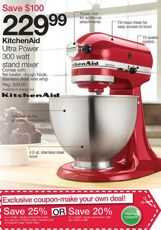 Canada Black Friday Pre Kitchenaid Ultra Stand Mixer Kpmxpm Professional Series Mixers Home Design Pinterest