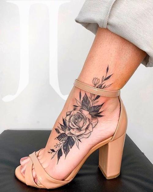 Floral Foot Tattoos : floral, tattoos, Tattoo, Ideas, Forearm, Women,, Tattoos, Women
