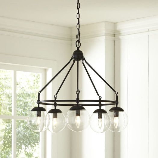 Cranston 5 Light Candle-Style Chandelier