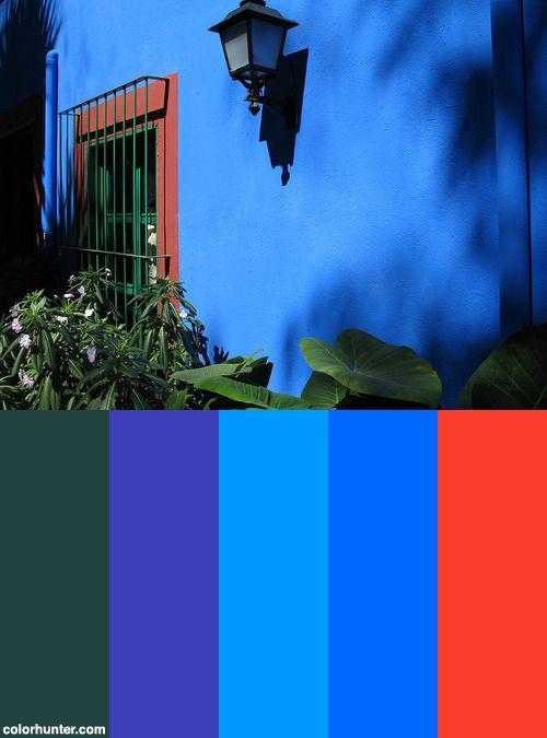 Frida Kahlo S Blue House Mexico City Color Scheme From