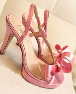 Morpheus Boutique - Pink Satin Bow Platform Strap Heels Celebrity Shoes