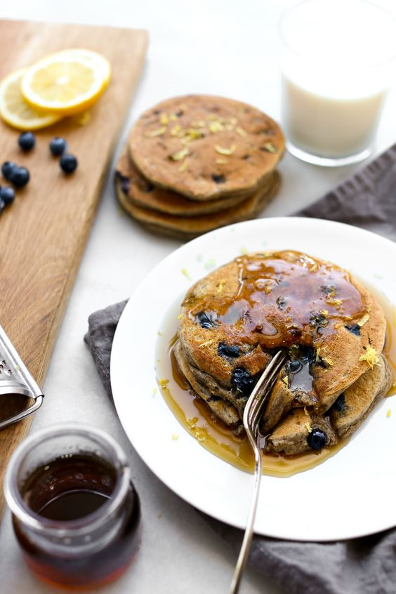 Brunching at home this weekend? Make these delicious Lemon Blueberry Buckwheat Ricotta Pancakes made with milk! http://www.accordingtoelle.com/lemon-blueberry-buckwheat-ricotta-pancakes/?utm_campaign=coschedule&utm_source=pinterest&utm_medium=Elle%20Penner%20MPH%2C%20RD&utm_content=Lemon%20Blueberry%20Buckwheat%20Ricotta%20Pancakes Recipe sponsored by MilkLife